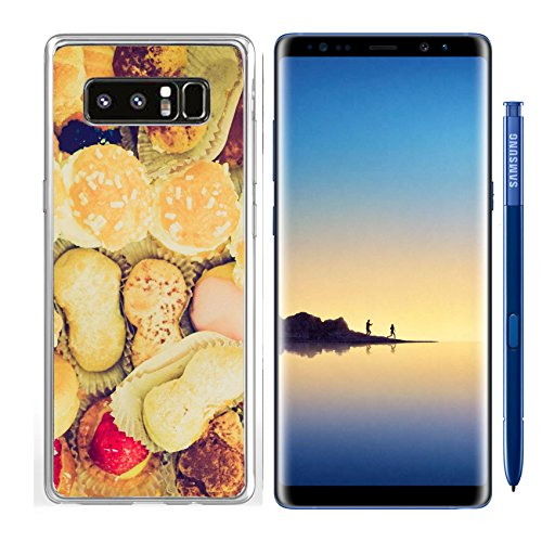 Luxlady Samsung Galaxy Note8 Clear case Soft TPU Rubber Silicone IMAGE ID 27611282 Vintage looking Mixed pastries with chocolate cream - Pastries Mixed