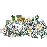 EASYWAY Force Battle Soldiers Playset, Army Men Modern Warfare Action Figures 300 Piece of Current Military, Toy Tanks, Planes, Flags, Soldier Figures, Grid & Accessories