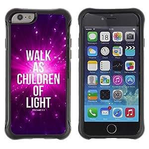Suave TPU Caso Carcasa de Caucho Funda para Apple Iphone 6 PLUS 5.5 / BIBLE Walk As Children Of Light - Ephensians 5:8 / STRONG
