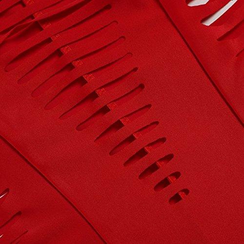 Teamyy Ropa de Baño de Una Pieza para Mujer Hollow Out Hueco Monokini del Vendaje Rojo