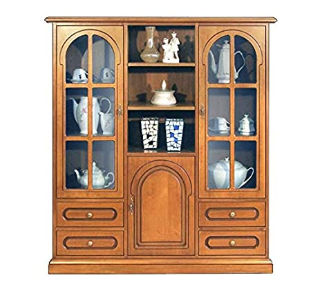 Arteferretto Mueble de salón estilo clasico, vitrina de ...