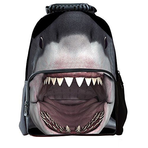 Skymoon Childrens 3D Animal School Backpacks (16 Inch,Shark) (Lunch Box Jaws)