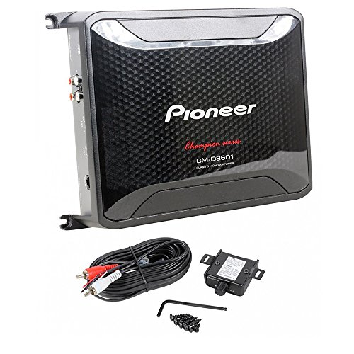 Pioneer 4 Gauge 1600W Monoblock Class-D Car Amplifier Kicker 12'' Single 4 ohm Shallow-Mount Car Subwoofer And 4 Gauge Amp Kit by Cache, Kicker, Pioneer (Image #1)