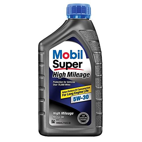 Mobil Super (112906-6PK High Mileage 5W-30 Motor Oil - 1 Quart, (Pack of 6) (Mobil 5w30)