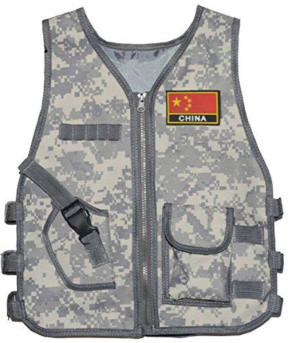 GSKids Tactical Vest Children's Adjustable Military Fans Clothing -