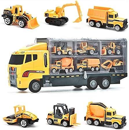 Juguetes de Construcción Juegos Vehículos de Aleación para Niños Juego Tractor Camión Volquete Excavadora Remolque Juguete Carro de 3 Años Conocer