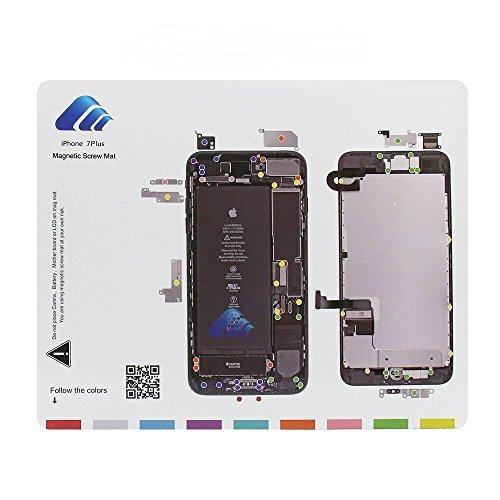 DonkeyEmma Magnetic Project Mat for iPhone 7 Plus/7 Screw Mat Repair Guide Pad Screw Keeper Chart Map Professional Guide Pad Repair Tools (for iPhone 7 Plus)