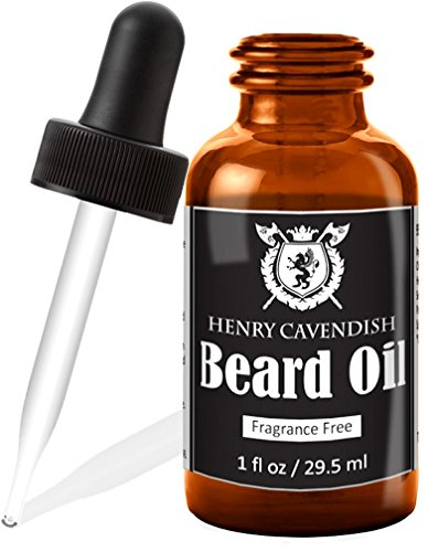 Henry Cavendish Beard Oil and Leave In Conditioner. With Organic Jojo, Sunflower, Shea and Argon Oils. Fragrance Free. (1 Ounce)