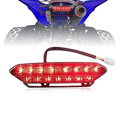 Akmties LED Tail Light Brake Rear Light for Motorcycle 2006-2009 Yamaha YFZ450(Smoked 1pcs): Automotive