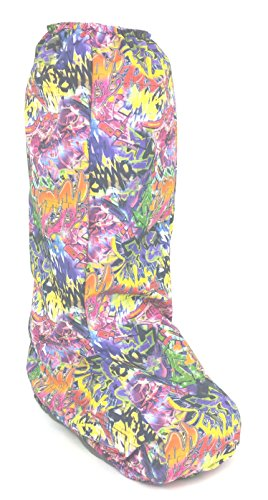 My Recovers Walking Boot Weather Cover for Medical Boot, Graffiti Print, Tall Boot, Made in USA, Orthopedic Accessories (Large) by My Recovers