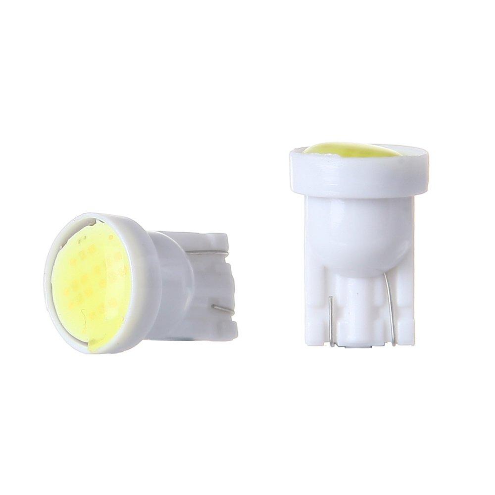 cciyu T10 Instrument Light White W5W 912 194 161 168 COB Car Instrument Panel Gauge Dash Wedge Bulbs 12V 803660-5210-1847481