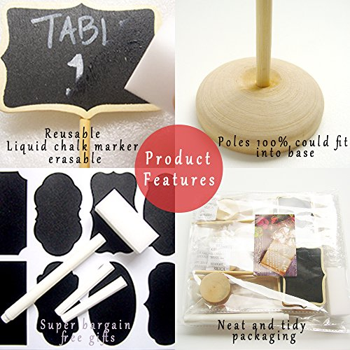 EFOXMOKO 12 Food Labels for Party, Mini Chalkboard Signs