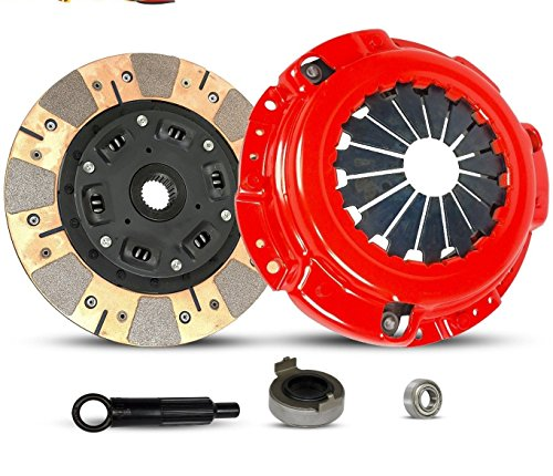 Clutch Kit Dual Facing Stage 2 Works With 1990-2002 Acura Cl Honda Accord 2.2L 2.3L SOHC 4cyl F22; DX, LX, EX, SE F23 4cy F22