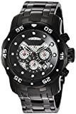 Invicta Men's 'Pro Diver' Quartz Stainless Steel Diving Watch, Color:Black (Model: 25334)