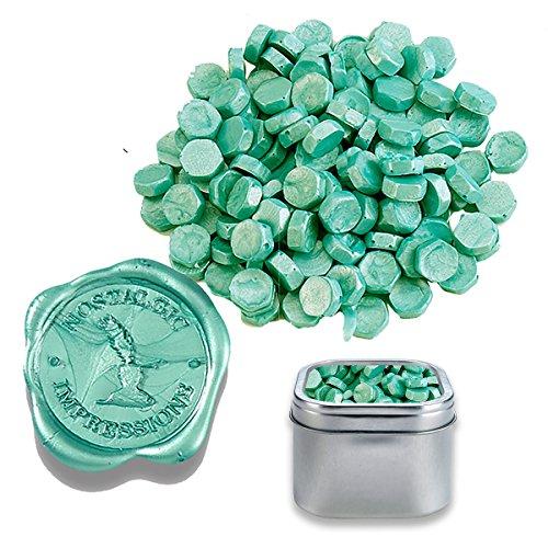Sealing Wax Beads in Tin-Teal
