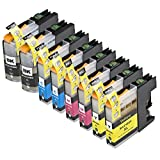 8 Pack Compatible Brother LC101 , LC103 2 Black, 2 Cyan, 2 Magenta, 2 Yellow for use with Brother DCP-J152W, MFC-J245, MFC-J285DW, MFC-J4310DW, MFC-J4410DW, MFC-J450DW, MFC-J4510DW, MFC-J4610DW, MFC-J470DW, MFC-J4710DW, MFC-J475DW, MFC-J650DW, MFC-J6520DW, MFC-J6720DW, MFC-J6920DW, MFC-J870DW, MFC-J875DW. Ink Cartridges for inkjet printers. LC101BK , LC101C , LC101M , LC101Y , LC103BK , LC103C , LC103M , LC103Y © Zulu Inks