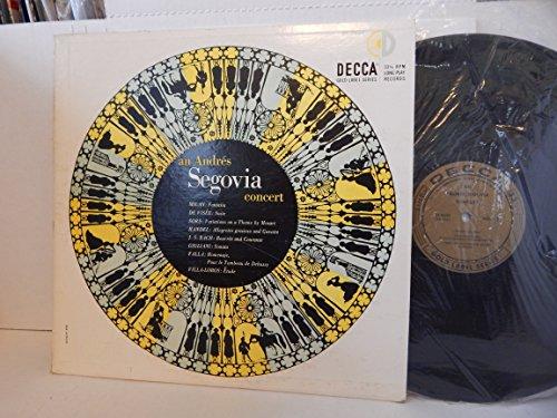 An Andres Segovia Concert - Milan, De Visee, Sors,handel,Bach, Giuliani, Falla, - Vinyl Vise