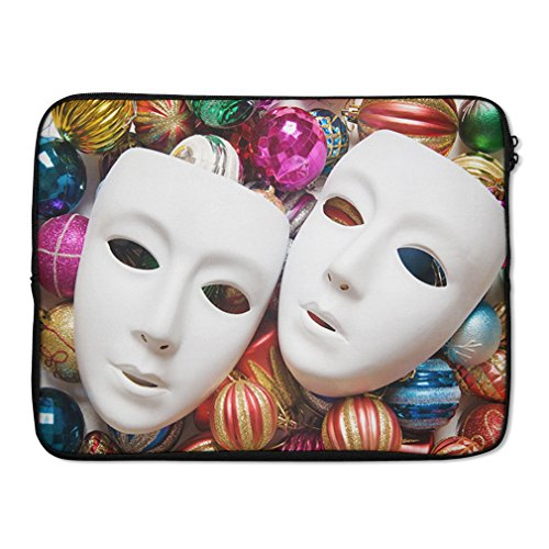 Style in Print Theatre Concept With White Plastic Masks L...