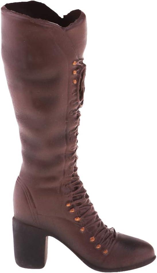 1//6 Modell weiblicher mittlerer Absatz Kniehoher Stiefel für 12 /'/'