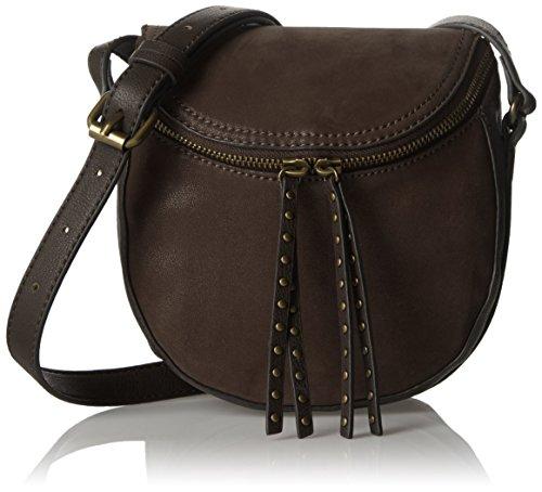 Esprit mit praktischem Innenleben - Bolso de hombro Mujer 200 Dark Brown