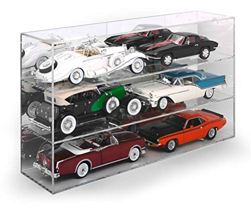 Round 2, LLC. RDZ 1/18 Six-Car Acrylic Display Case, RDZAWDC015