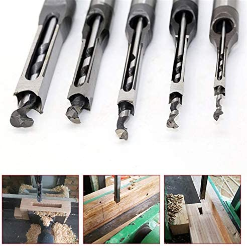 Square Hole Saw Cutter Woodwork Tool High Hardness HSS Metric Mortising Chisel Square Hole Drill Bit (Hole Diameter : 15mm)