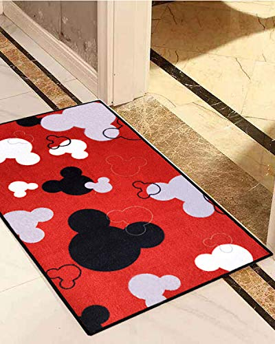 J Ehonace Mickey Mouse Rugs Bathroom Rug Indoor Outdoor