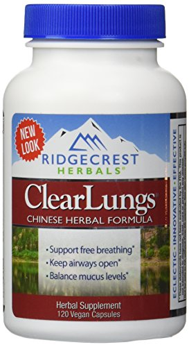 Clear Lungs Classic - Red Label - 120 Capsules (Best Medicine For Copd)