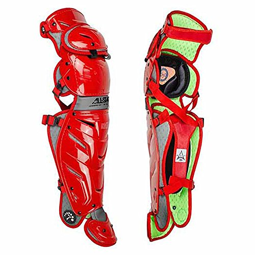 Scarlet Pro Leg Guards - All-Star S7 Axis Youth 9-12 Pro Leg Guards LG912S7X (Scarlet)