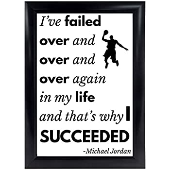 Amazon Com Michael Jordan Quote Poster From I Ve Missed More Than