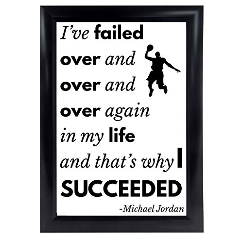 Michael Jordan Quote Poster from I ve Missed more than 9000 shots MJ 23 Inspirational quote motivation wall art decor print success quotes for office room basketball gifts