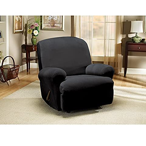 Sure Fit Stretch Pearson - Recliner Slipcover - Ebony (SF35566) - Homestyles Leather Sofa