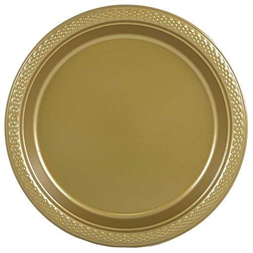 JAM Paper Bulk Round Plastic Party Plates - Medium - 9