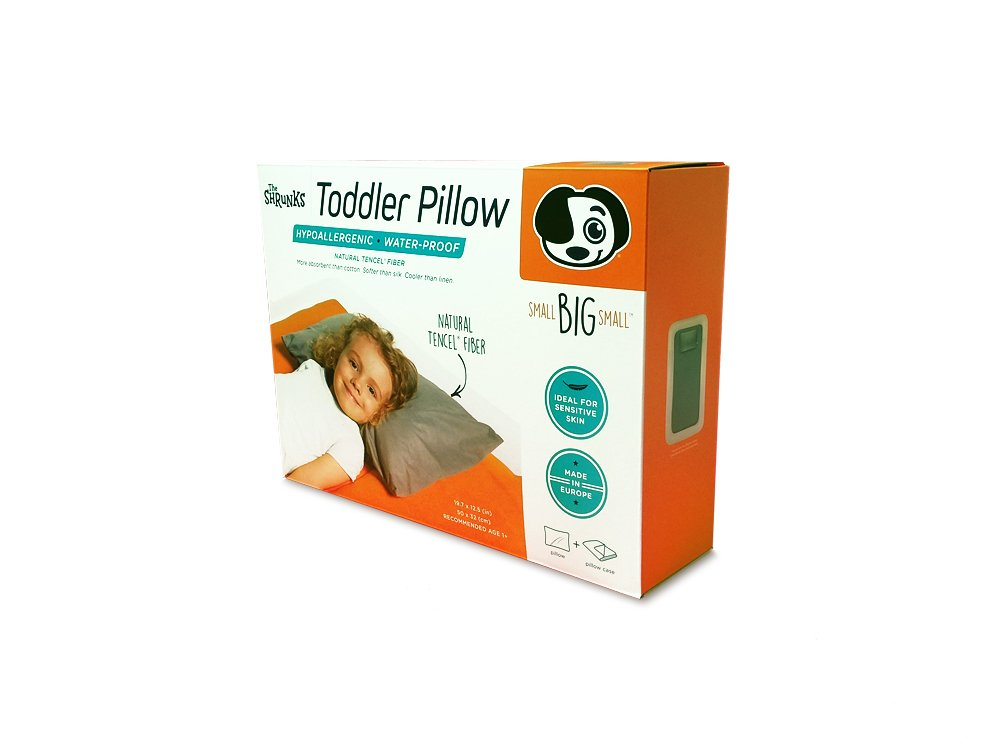 The Shrunks Natural Fibre - Water-proof Toddler Pillow and Cover, Grey by The Shrunks (Image #7)