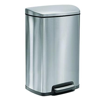 amazon com tramontina step trash can stainless steel gray 13 gal rh amazon com