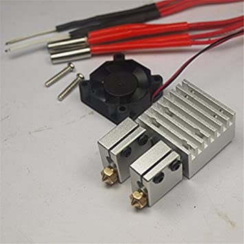 ARBUYSHOP Reprap 3 D printer E3D Chimera Dual Volcano HotEnd kit