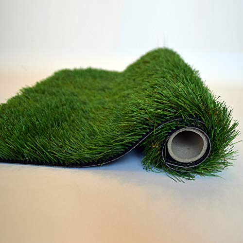 - 38 mm Natural, Pile Height 1.50 Inch Artificial Grass Synthetic Thick Lawn Turf Rug, Artificial Grass Mat (48