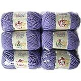 BERNAT Baby Blanket Yarn, 3.5oz, 6-PACK (Lilac)