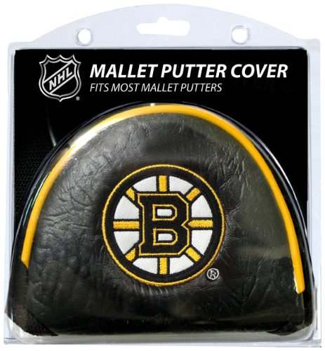 (Team Golf NHL Boston Bruins Golf Club Mallet Putter Headcover, Fits Most Mallet Putters, Scotty Cameron, Daddy Long Legs, Taylormade, Odyssey, Titleist, Ping, Callaway)