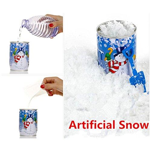 Cans Snow Powder - Fheaven Instant Xmas Magic Snow Powder Reusable Artificial Christmas Decoration