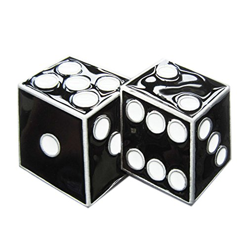 New Black Enamel Dices Casino Gamble Vintage Belt Buckle Gurtelschnalle - Dice Belt Buckle