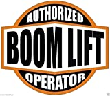 Authorized Boom Lift Operator (Lot Of 3) Sticker Decal Vinyl - Made in USA 2.125 in. round each