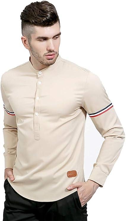 LIUXING-TUMI Camisa Casual con Cuello Redondo de Color de ...