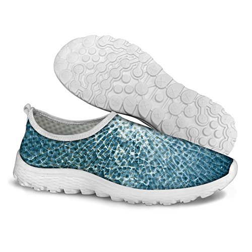 FOR U DESIGNS Cool Unisex Womens & Mens Mesh Light Breathable Sneaker Running Shoes Blue a 8t1DKIl