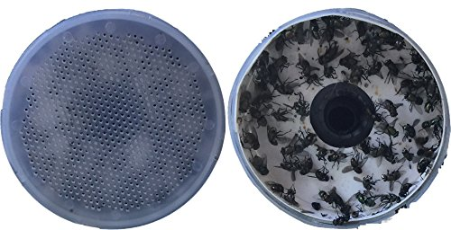 Premium Dog Waste Trash Can with Integrated Fly Trap for Small and Medium Sized Dogs (to 50 lbs.), Stainless Steel, Black, for Poop Bag, Pooper Scooper and Shovel Disposal by Garbage Can Fly Trap (Image #3)
