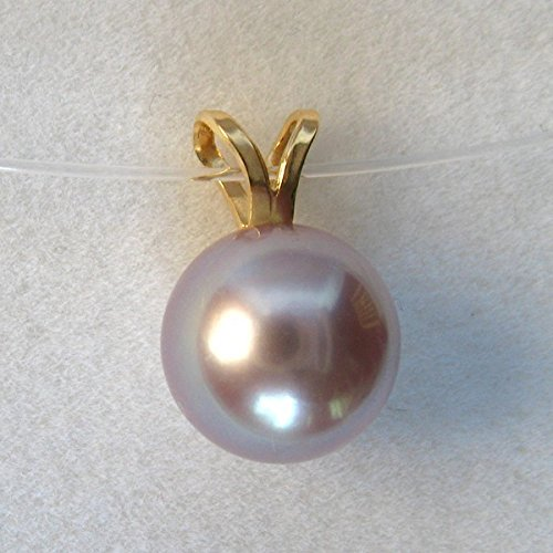 Pendentif Lova Violine perle de culture violine. Or 750