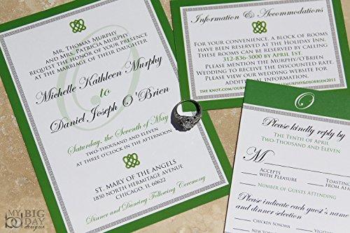 The Classic Celtic Wedding Invitation Sample Set Celtic Wedding Set