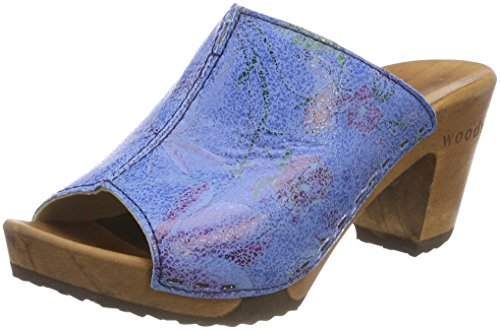 Woody Women's Elly Clogs Blue (Curacao 035) goVp73Bl