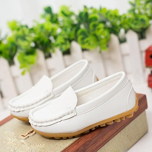 Rawdah Chaussures de Baskets pour Enfants Chaussures Garçons Chaussures pour Chaussures de Sport Pour 2~6.5 Ans Bébé (2ans, Blanc)