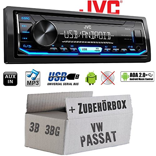 Einbauset f/ür VW Passat 3B JUST SOUND best choice for caraudio Einbauzubeh/ör Android 4x50Watt USB MP3 Autoradio Radio JVC KD-X151 3BG